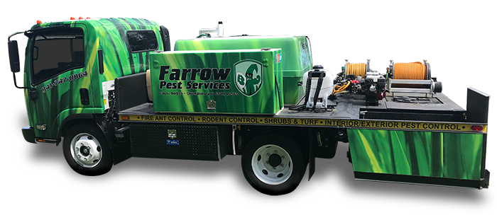 Farrow Pest Services truck with logo - Florida's best pest control & lawn care company